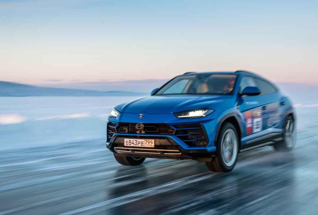 Фестиваль «Дни скорости на льду Байкала 2021». Установка рекорда скорости на Lamborghini Urus