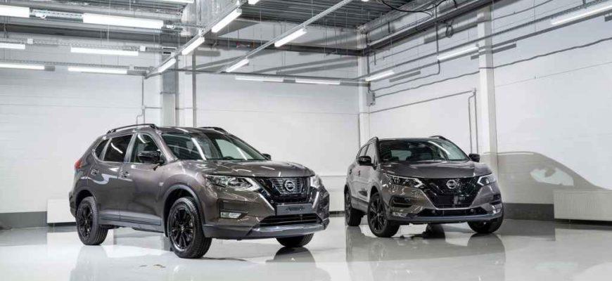Кроссоверы Nissan Qashqai и Nissan X-Trail в специальной версии N-Design