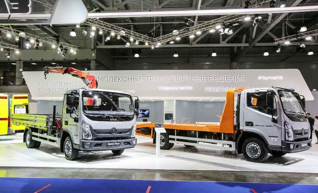 Среднетоннажные грузовики Валдай Next на выставке Comtrans 2021 в Москве