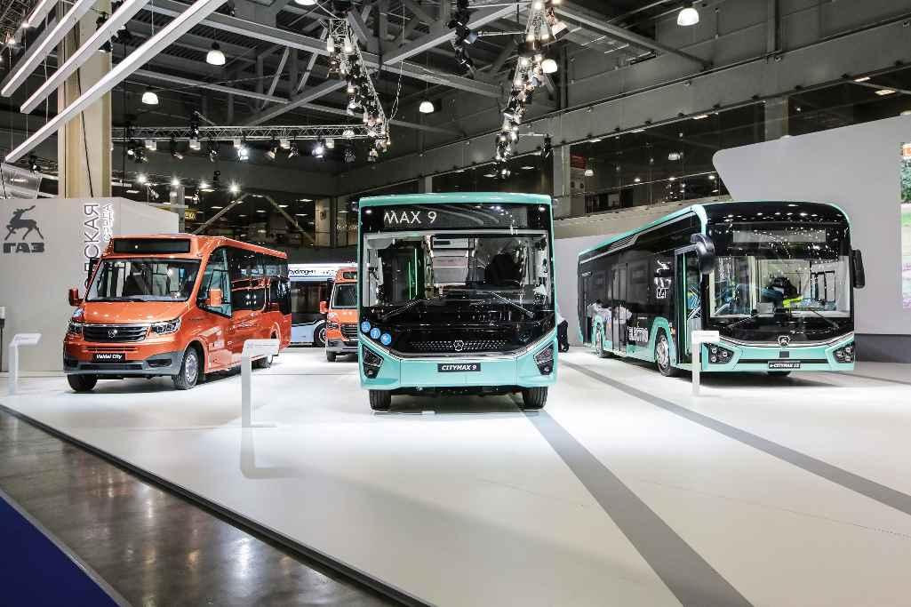 Автобусы CITYMAX 9 с дизельным двигателем экологического стандарта «Евро-6» и электрический E-CITYMAX 12 на выставке Comtrans 2021 в Москве